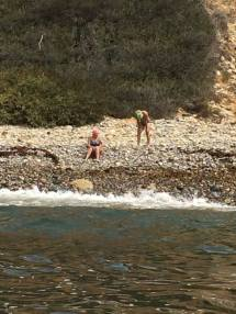 Catalina Channel Swim - Finsih