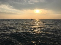 English Channel Sunset During Swim