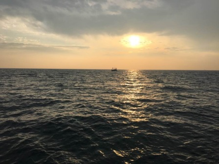 English Channel Sunset During Swim