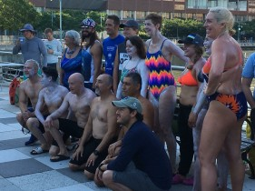 Manhattan Island Marathon Swim - Swimmers Ready