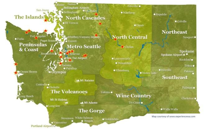 Wandering Washington Map