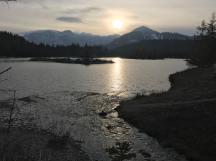Gold Creek Pond - Looking to Silver Peak